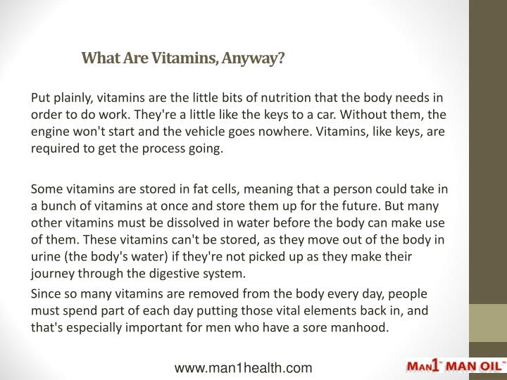 What are vitamins anyway