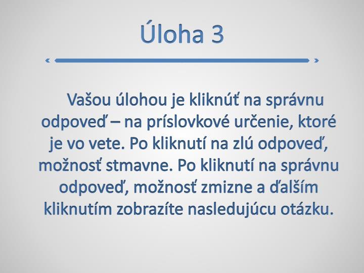 Úloha 3