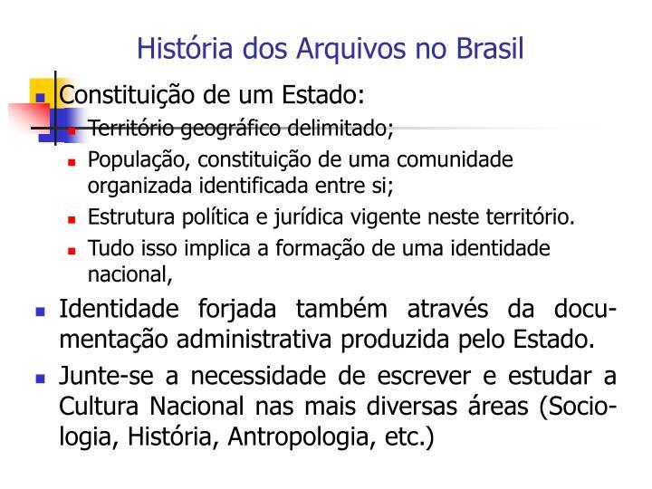 História dos Arquivos no Brasil