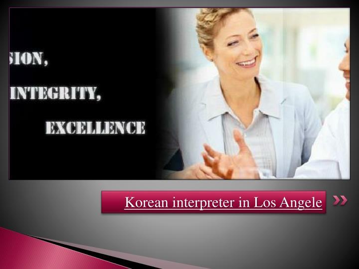 Korean interpreter in Los Angele