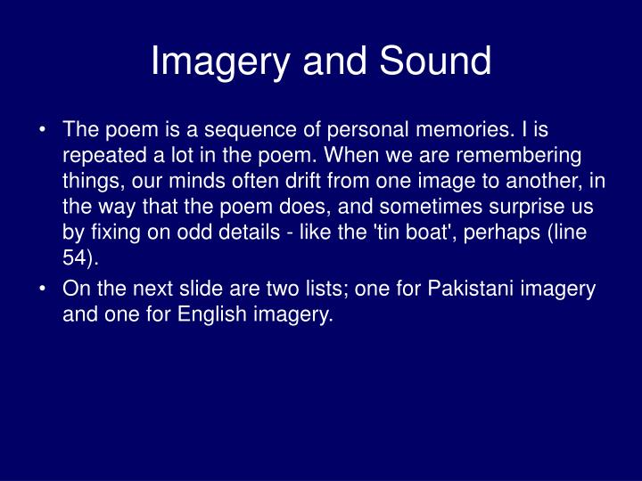 Imagery and Sound