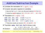 addition subtraction example