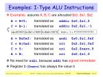 examples i type alu instructions