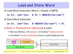 load and store word