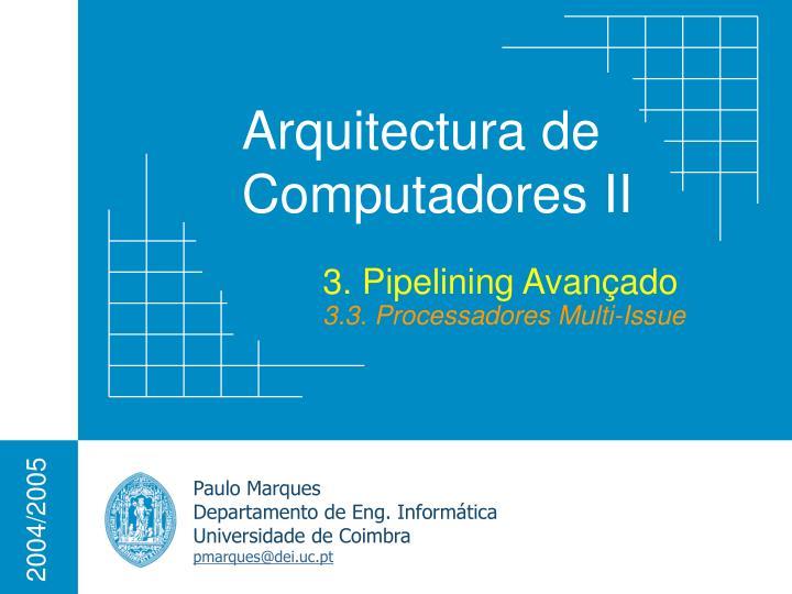 3. Pipelining Avançado