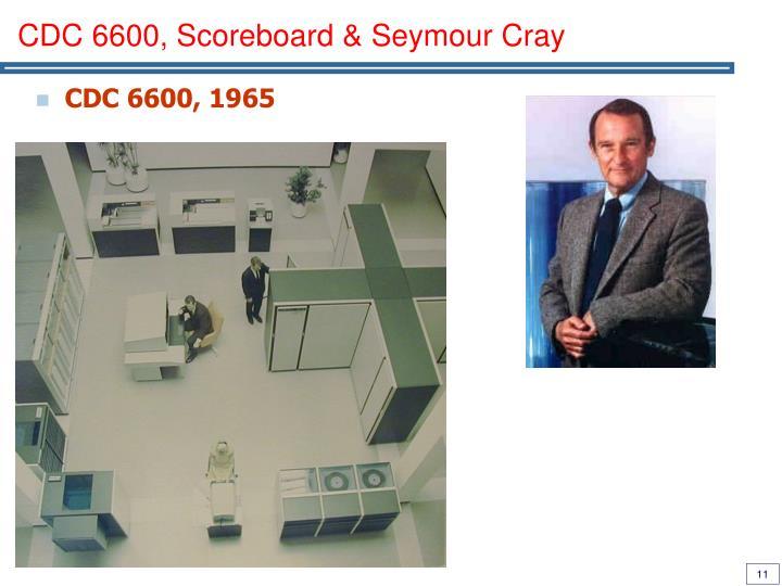 CDC 6600, Scoreboard & Seymour Cray