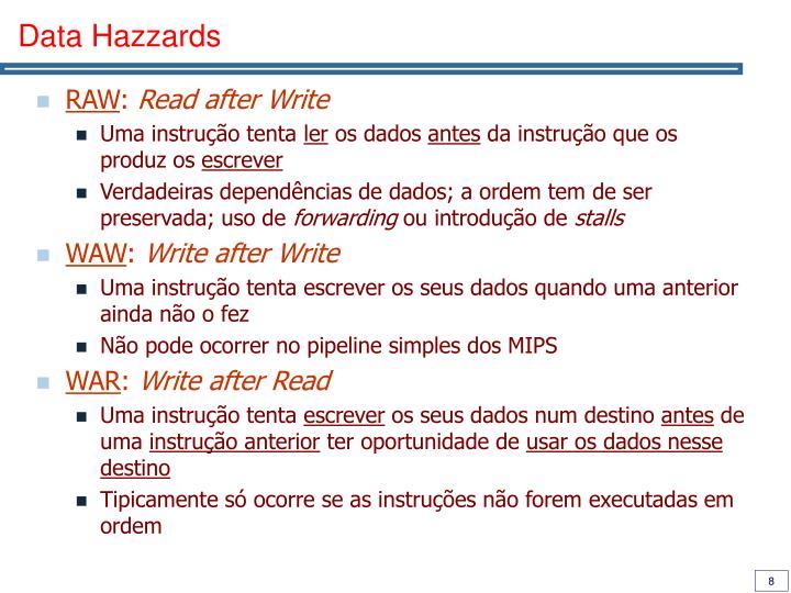 Data Hazzards