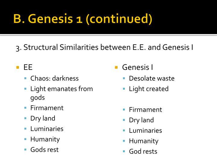 B. Genesis 1 (continued)