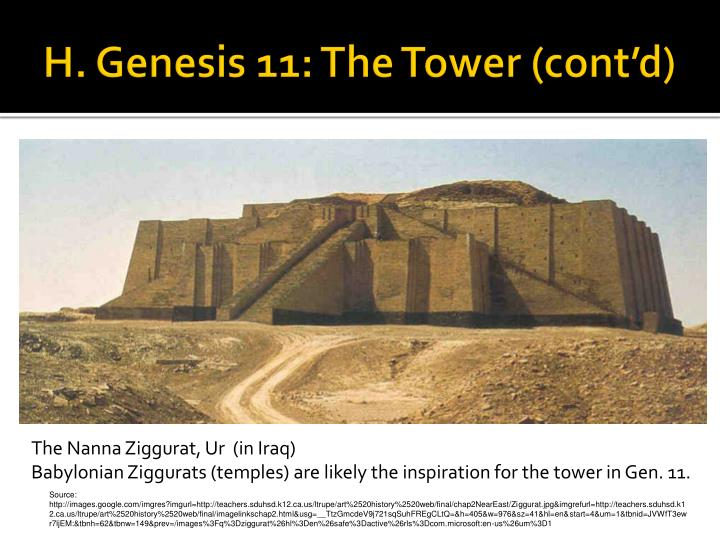 H. Genesis 11: The Tower (cont'd)