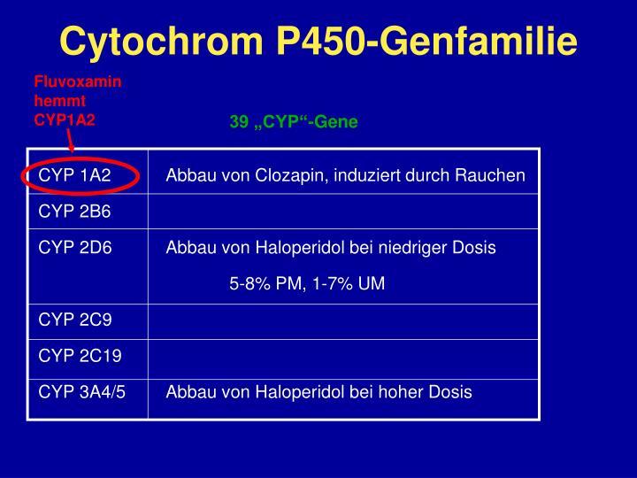 Cytochrom P450-Genfamilie