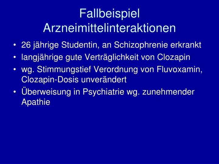 Fallbeispiel Arzneimittelinteraktionen
