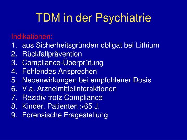 TDM in der Psychiatrie