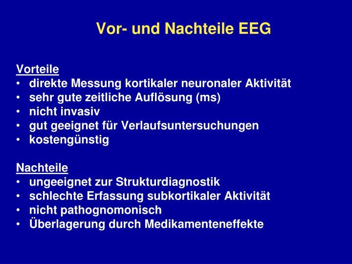 Vor- und Nachteile EEG