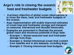 argo s role in closing the oceanic heat and freshwater budgets