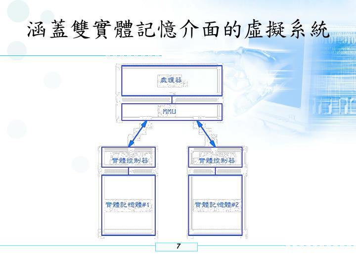 涵蓋雙實體記憶介面的虛擬系統