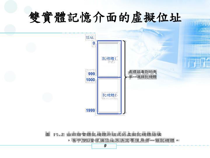雙實體記憶介面的虛擬位址