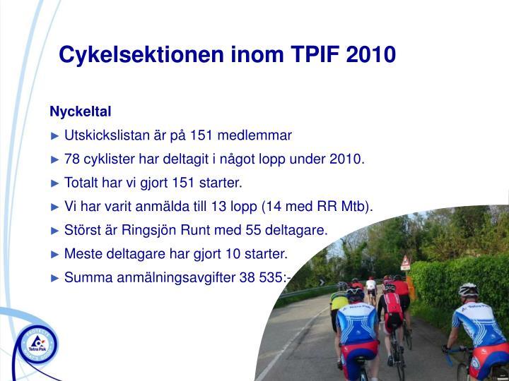 Cykelsektionen inom TPIF 2010