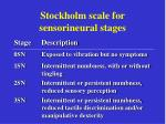 stockholm scale for sensorineural s tages