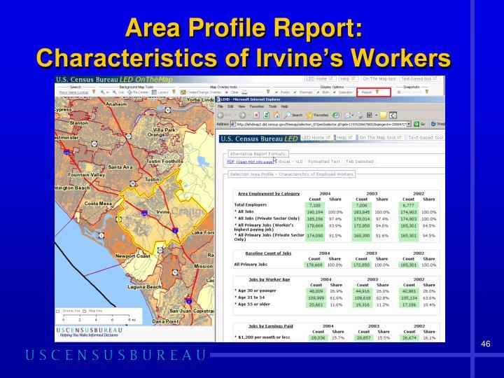 Area Profile Report: