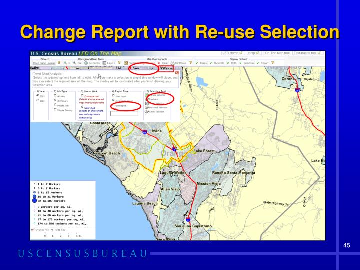 Change Report with Re-use Selection