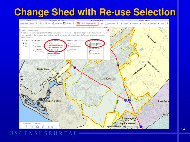 Change Shed with Re-use Selection