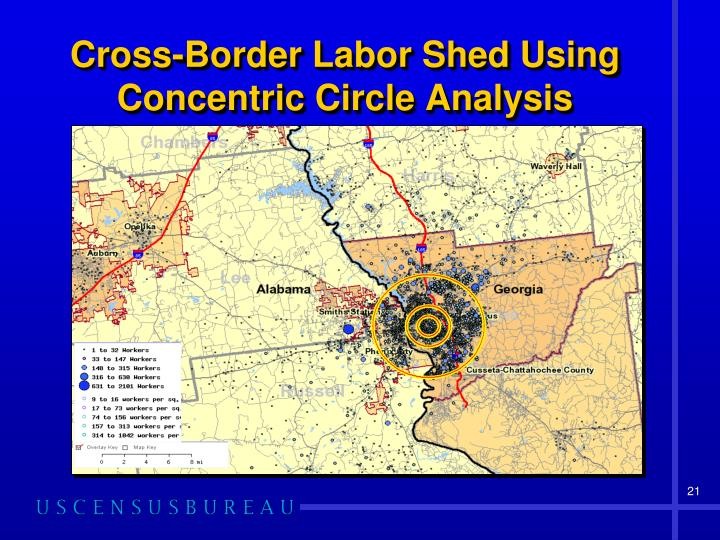 Cross-Border Labor Shed Using