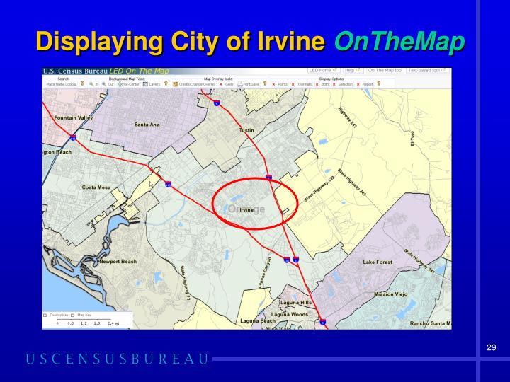 Displaying City of Irvine