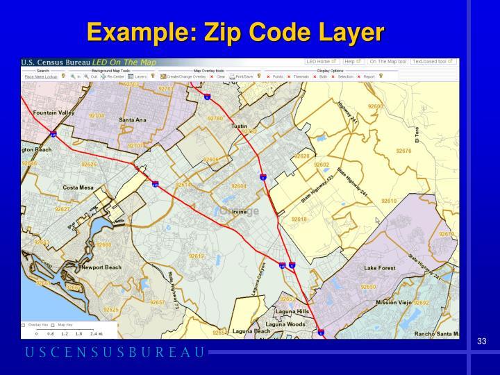 Example: Zip Code Layer