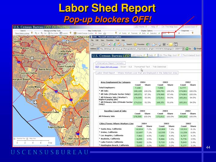 Labor Shed Report