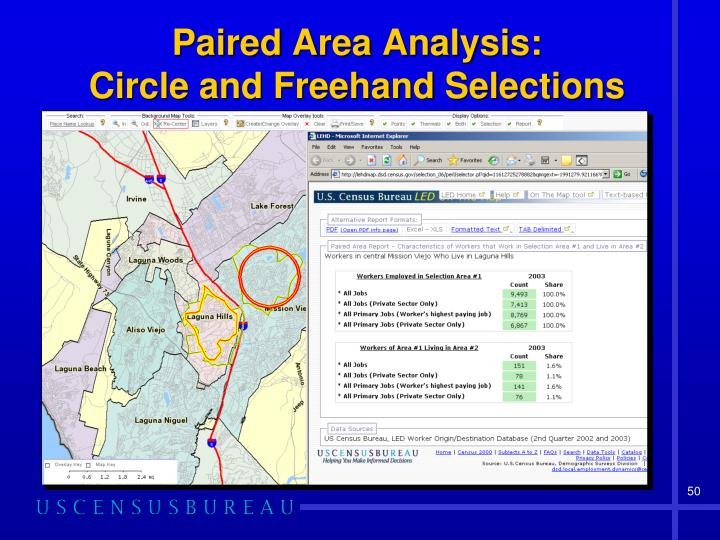 Paired Area Analysis: