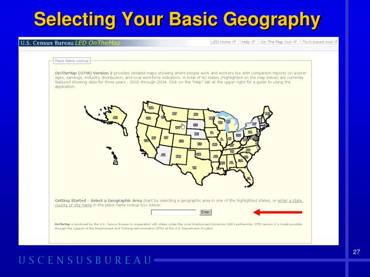 Selecting Your Basic Geography
