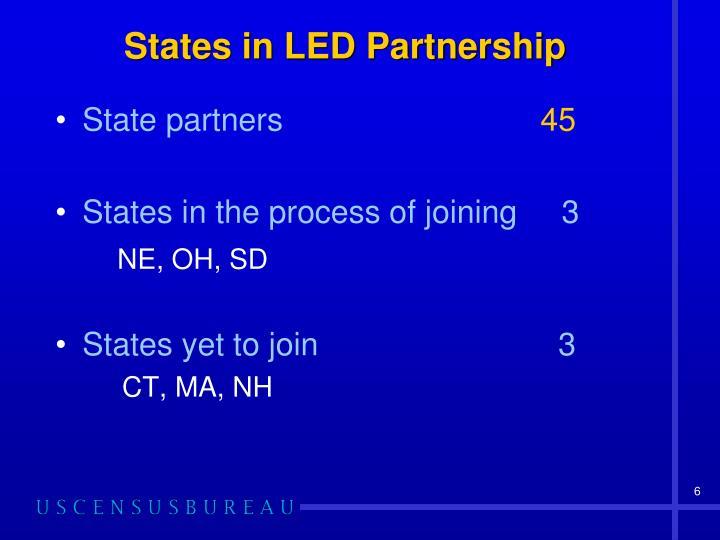 States in LED Partnership