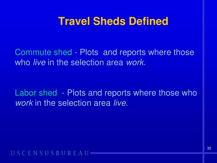 Travel Sheds Defined