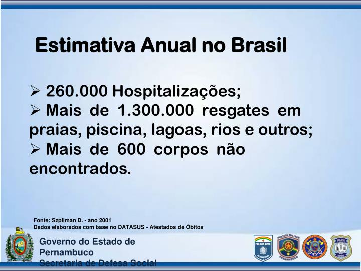 Estimativa Anual no Brasil