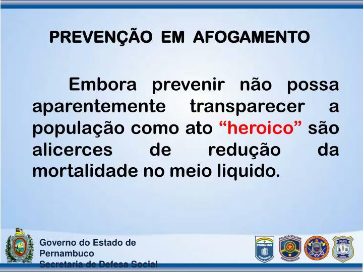 PREVENÇÃO  EM  AFOGAMENTO