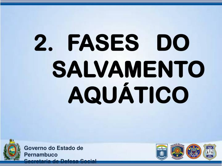 FASES   DO SALVAMENTO AQUÁTICO