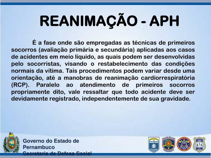 REANIMAÇÃO - APH