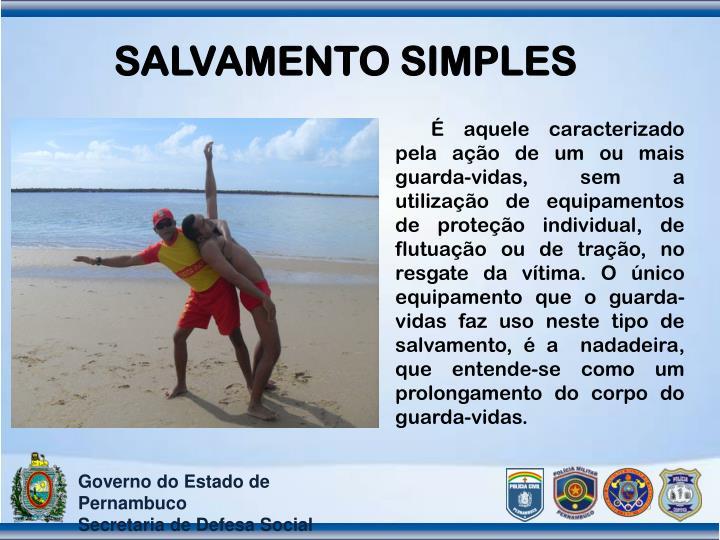 SALVAMENTO SIMPLES