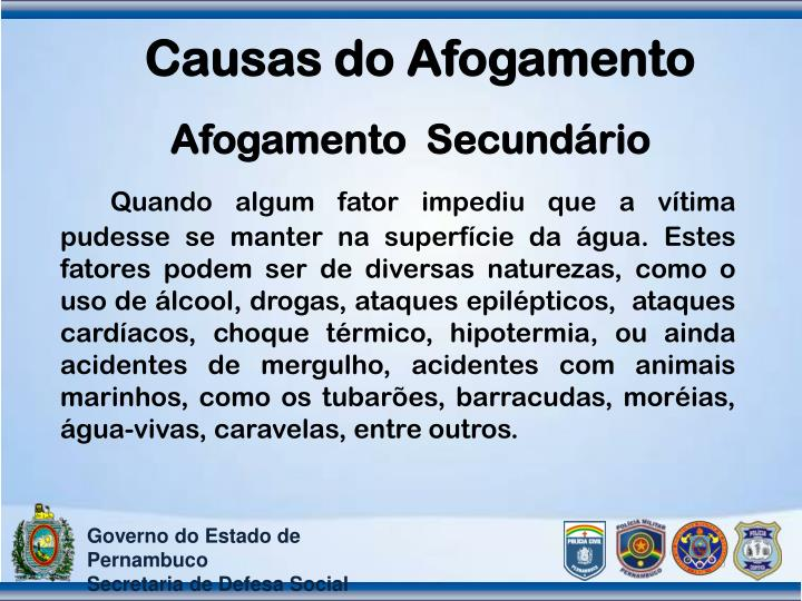 Causas do Afogamento