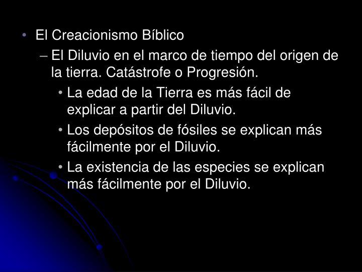 El Creacionismo Bíblico