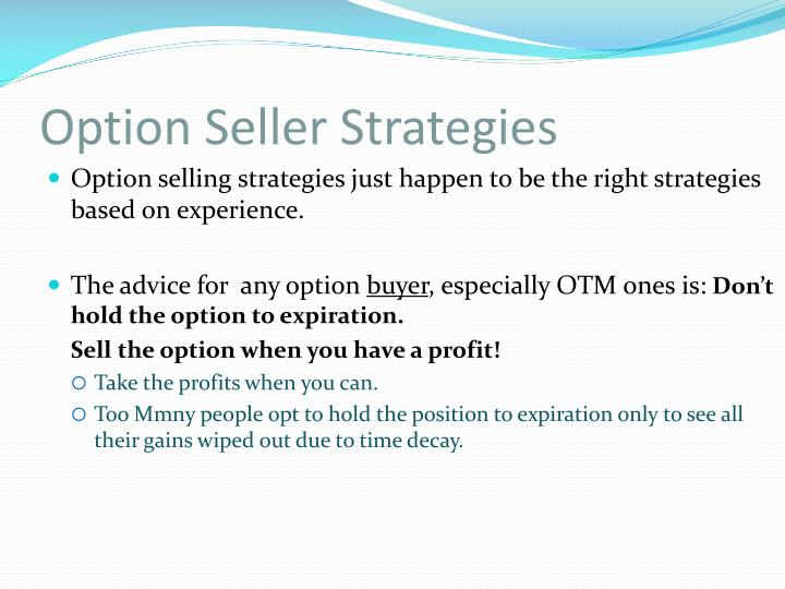 Option Seller Strategies