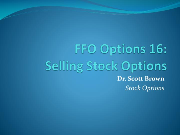 FFO Options 16: