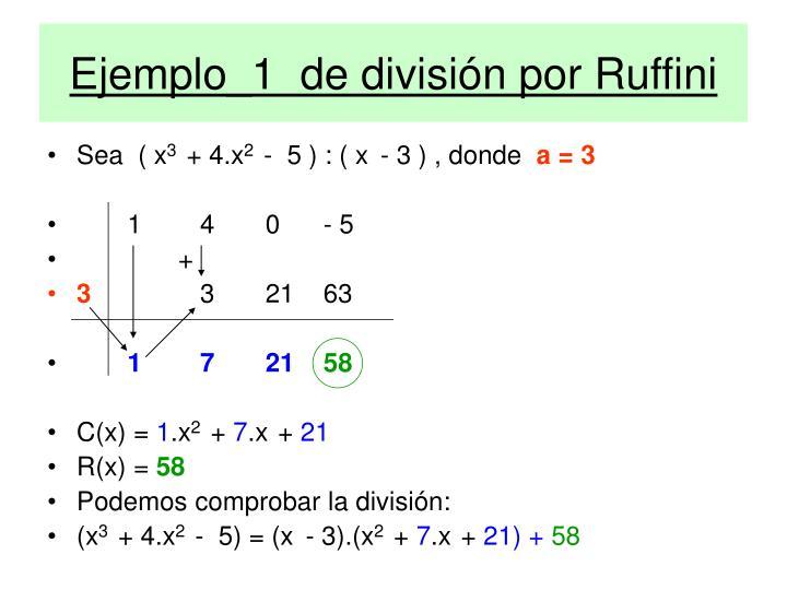 Ejemplo_1  de división por Ruffini