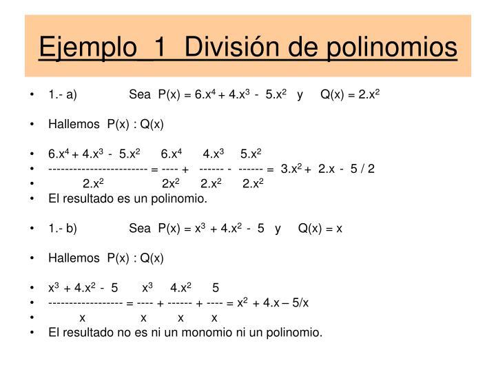 Ejemplo_1  División de polinomios