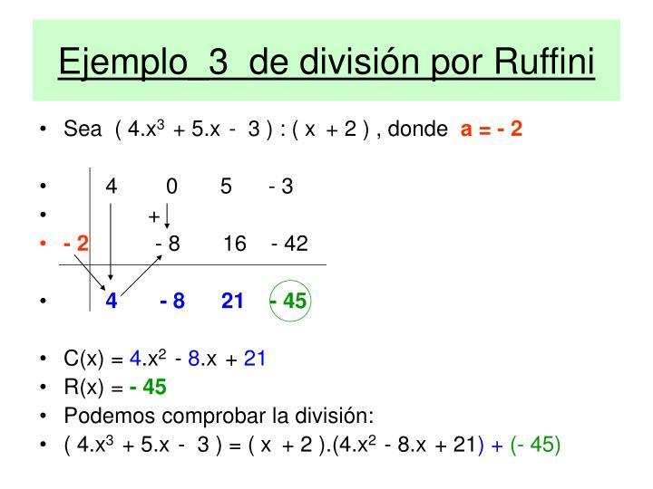 Ejemplo_3  de división por Ruffini