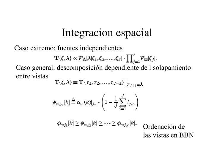 Integracion espacial