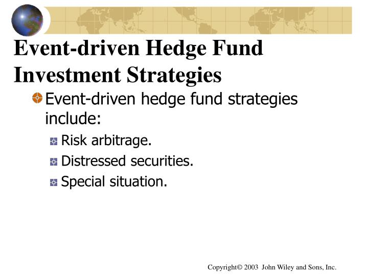 Event-driven Hedge Fund Investment Strategies