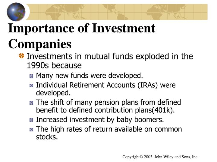Importance of Investment Companies