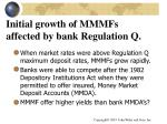 initial growth of mmmfs affected by bank regulation q