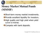 money market mutual funds mmmf